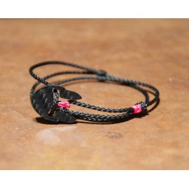 Carbon-Bracelet black-pink Women