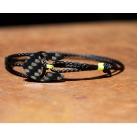 Carbon-Bracelet black-yellow Women