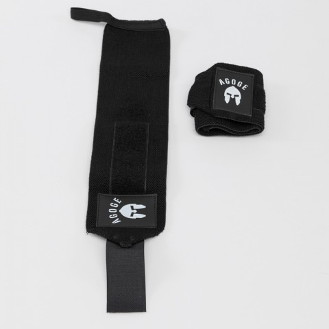 AGOGE Wrist Wraps - Handgelenk-Bandage schwarz