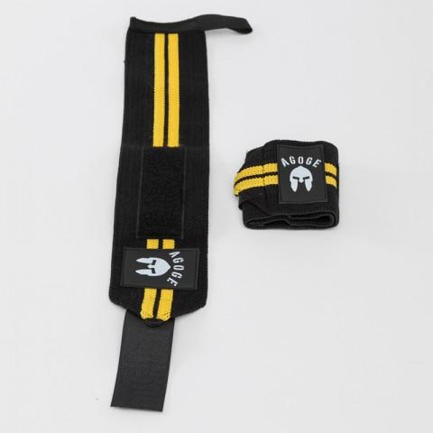 Handgelenkbandage mit gelben Streifen