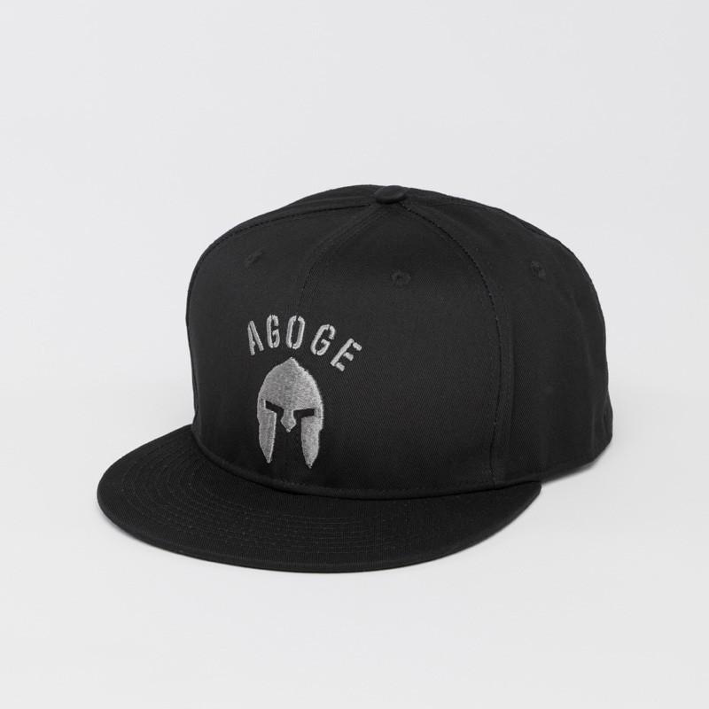 AGOGE Snapback mit grauem Logo-Stick