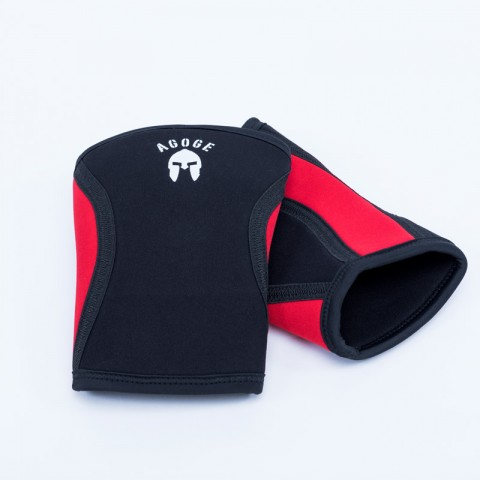 AGOGE Kniebandage schwarz/rot