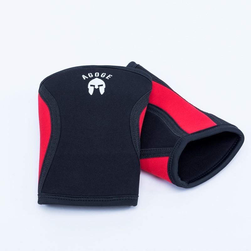 AGOGE Kniebandage schwarz rot